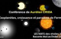 Conférence «Exoplanètes, croissance et paradoxe de Fermi»